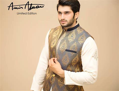 12 men s stylish shalwar kammez waist coats combinations men s wear traditional waistcoat with shalwar kameez looks