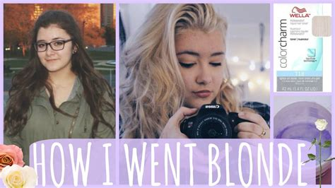 how i went from brown to platinum bleaching