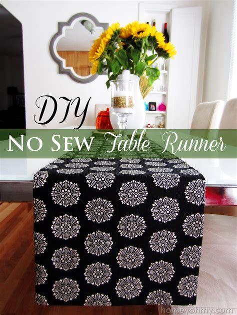 how to sew a table runner diy no sew table runner
