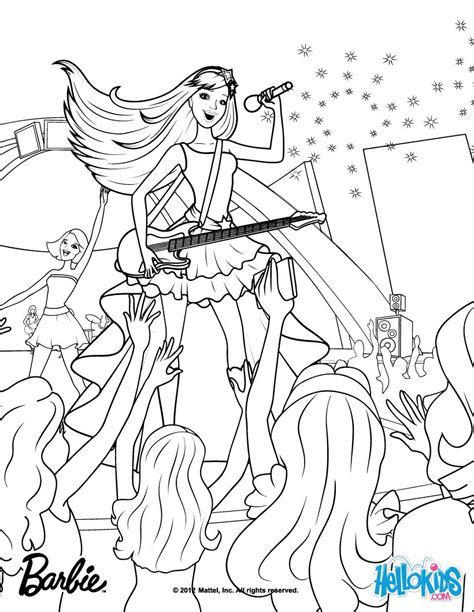 keira the popstar coloring pages hellokids com