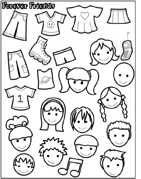 friendship color in card templates forever friends 2 coloring page stuff
