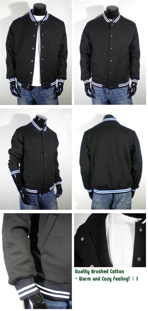 Black Cotton Jacket Xl Mj0014 mens varsity letterman cotton black sleeve baseball jacket s m l xl 2xl 3xl 4xl ebay