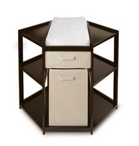badger basket espresso corner changing table with