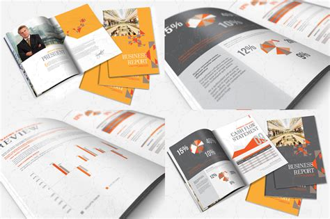 indesign annual report brochure template by