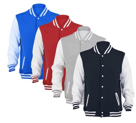 Jaket Sweater Jaket Clasic Basseball mens varsity baseball sweater jacket college style letterman new s m l xl ebay