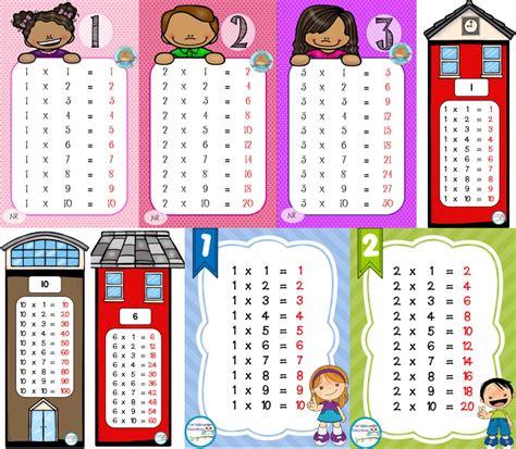 de dibujos multiplicaciones para los ninos a imprimir y colorear fabulosos dise 241 os de las tablas de multiplicar para