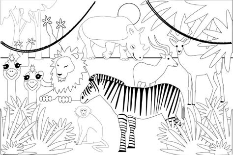 printable coloring pages jungle in the jungle free colouring pages