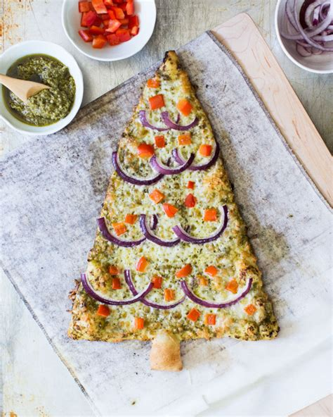 festive tree pizzas homemade pesto pizza