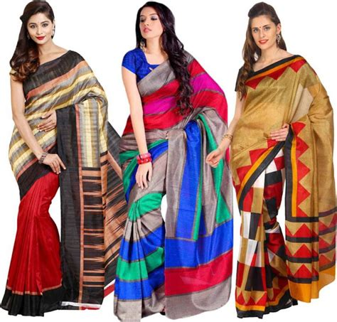 Promo Sari New Pack silk sarees combo pack for with flat 60 coupons kingdom