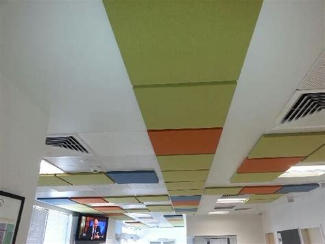 Fabric Ceiling Panels by Acoustic Ceiling Panels To Reduce Noise Sontext