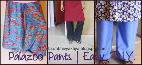 how to stitch simple plazo by step by step in hindi abhivyaktiya palazzo pants easy diy