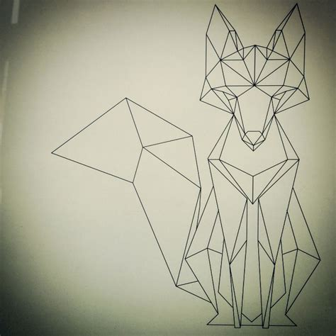 geometric fox geometric fox foxes and tattoo