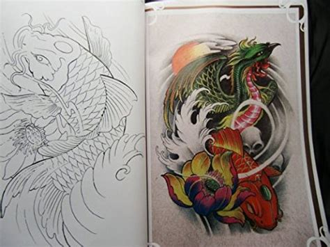 flash tattoo uae yuelong 174 china rare tattoo flash book koi fish reference