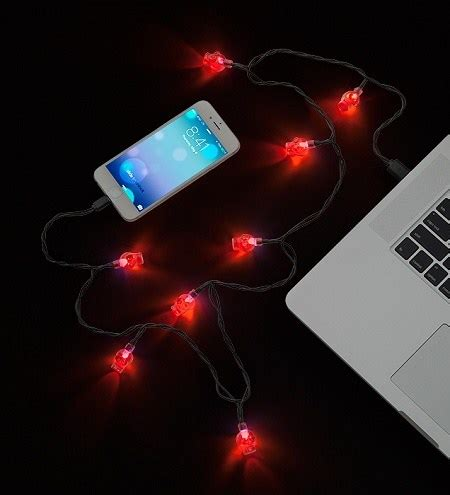 christmas light iphone charger ipad gadgets 187 coolest gadgets