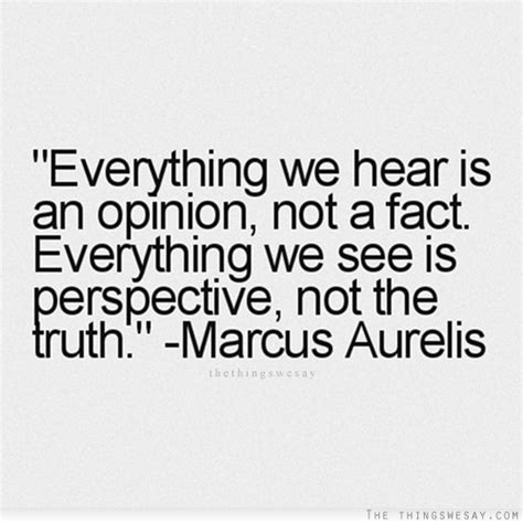 quot everything is not what everything we hear is an opinion not a fact everything we
