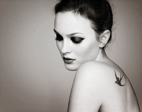 leighton meester tattoo bird leighton meester image 513771 on