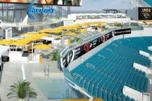 Jaguars Poolside Cabanas Everbank Field Un Estadio Con Alberca En La Tribuna