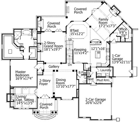 grand floor plans two story grand room 15665ge 1st floor master suite
