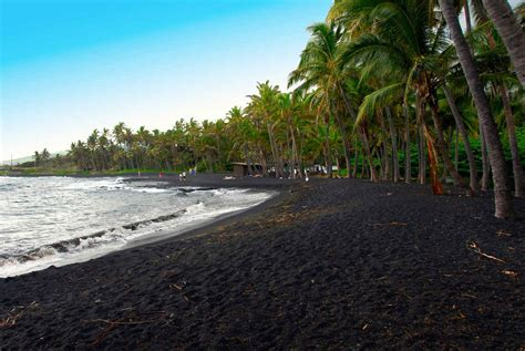 picture photo black sand beach at punaluu big island 10 best beaches in hawaii travel us travel canada