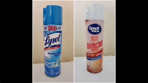 lysol disinfectant spray  walmarts great  disinfectant spray youtube