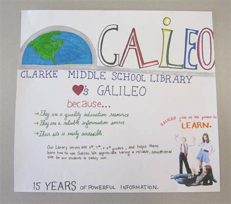 galileo biography for middle school we ve got the power poster galileo scrapbook