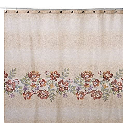 croscill shower curtain croscill 174 mosaic 70 inch l x 72 inch w floral shower