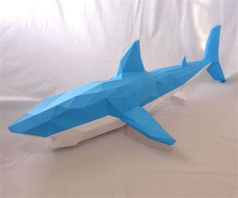 Papercraft Shark - something in the water shark papercraft