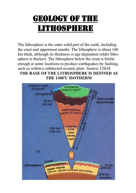 section of the lithosphere that carries crust lithosphere