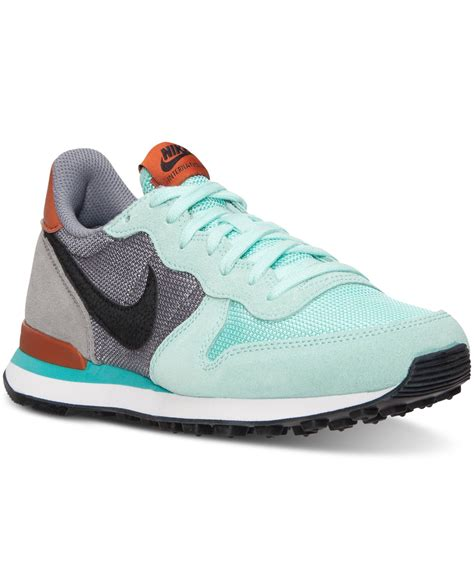 Nike Mid Sneakers Casual nike womens internationalist mid casual sneakers from