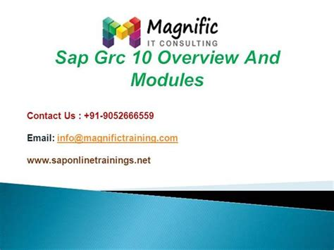 sap grc tutorial pdf sap grc 10 overview and modules authorstream