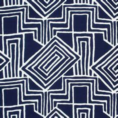 Batik Navy Oz white on blue cotton spandex knit fabric blue