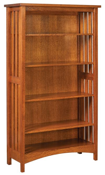 amish bookshelf bookcase solid wood amish furniture crafted solid wood bookcases