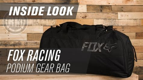 fox gear bags motocross fox racing podium motocross gear bag inside look