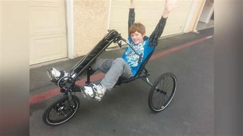 Stelan Boy 29 stolen bike recovered and returned to burbank boy with cerebral palsy thief at large