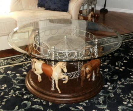 4 carousel coffee table and or end tables