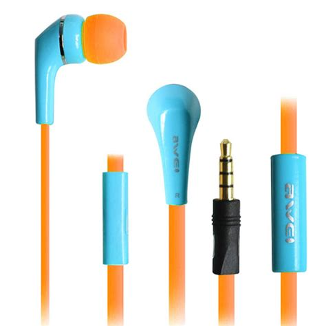 Headset Apple Iphone 5 nu 28 99 awei q7i headset voor apple iphone en blauw oranje bass