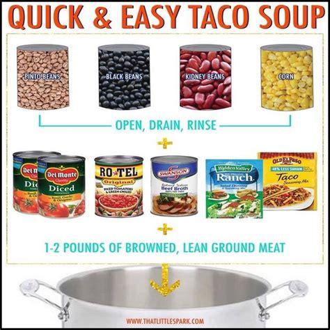 easy taco soup recipes soups pinterest easy taco soup and taco soup