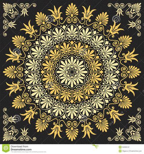 gold pattern floral 9 gold floral ornament vector images vintage black and