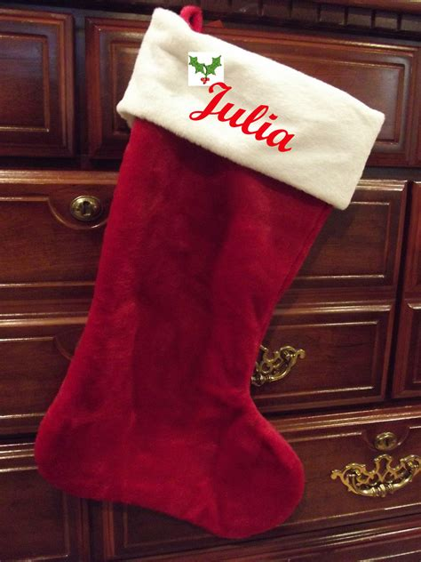 monogrammed christmas stockings plush personalized christmas stockings monogrammed premium
