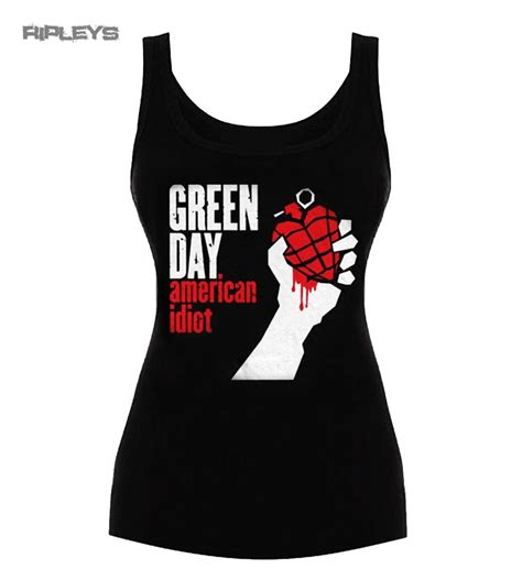 T Shirt 04 20 Green official t shirt vest top green day american idiot