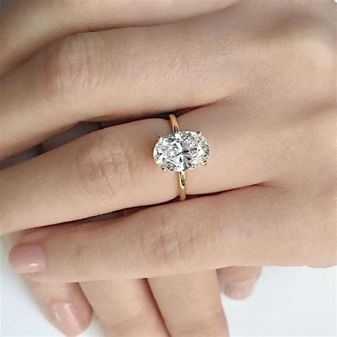 best 25 oval solitaire engagement ring ideas on