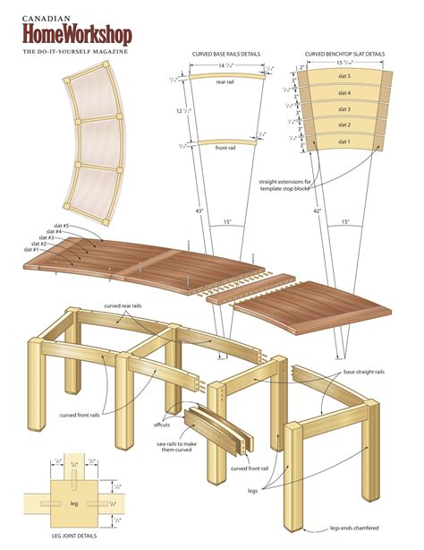 plans for a wooden bench curved wooden bench plans 187 woodworktips