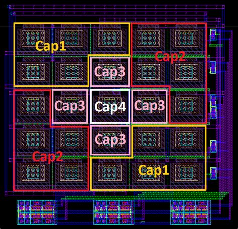 layout capacitor array the layout of the capacitor array