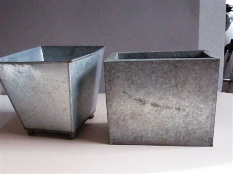 Rectangular Galvanized Planter by Galvanized Tub Planter Best Galvanized Planters Ideas