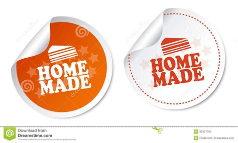 home made stickers stock photo image 33407750