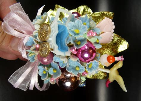 photo baby shower corsage booties corsages image