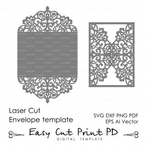 Laser Cut Cards Template by Flourish Wedding Invitation Pattern Card 5x7 Quot Template