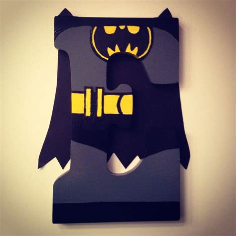 Letter Batman Batman Painted Monogram Wood Letter All Letters Available For 18 Discounts Offered When