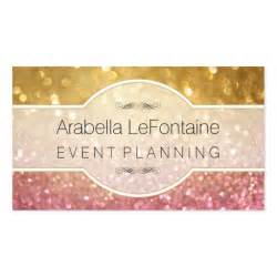 event planning business cards bokeh events business card glitter