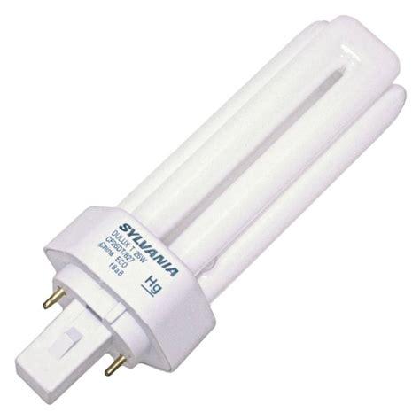 sylvania fluorescent light bulbs sylvania 20454 cf26dt 827 eco triple tube 2 pin base